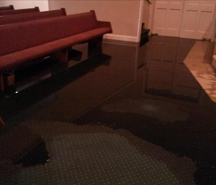 Callahan Church Faces Flooding in Sanctuary Before