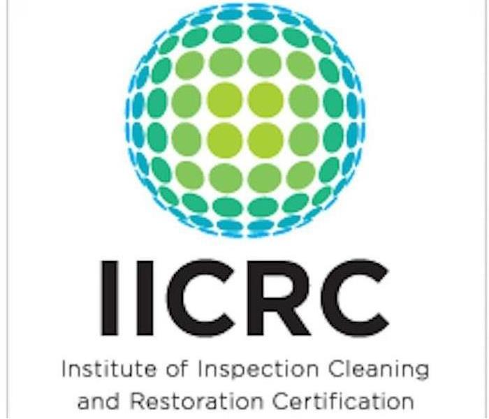graphic showing IICRC logo